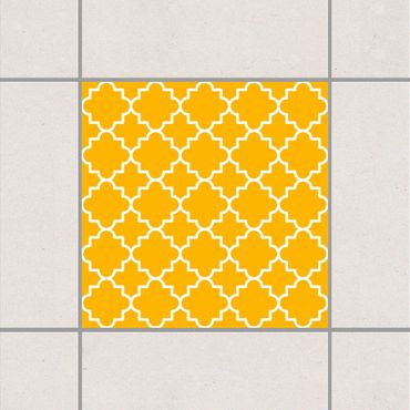 Fliesenaufkleber - Traditional Quatrefoil Melon Yellow Gelb