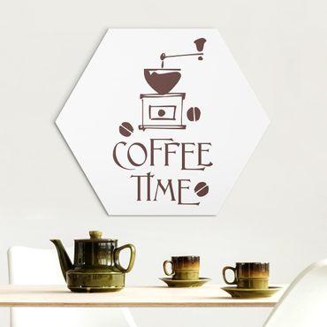 Hexagon Bild Alu-Dibond - No.SF318 Coffee Time 5