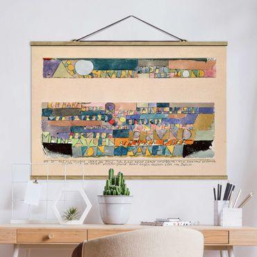 Stoffbild mit Posterleisten - Paul Klee - Der Mond - Querformat 3:2