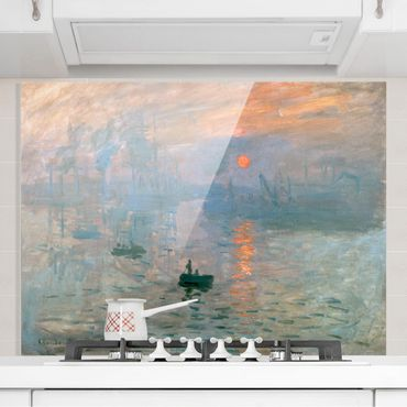Spritzschutz Glas - Claude Monet - Impression - Querformat 3:4