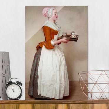 Glasbild - Jean Etienne Liotard - Das Schokoladenmädchen - Hochformat 3:2