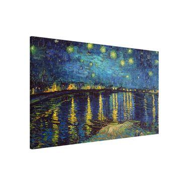 Magnettafel - Vincent van Gogh - Sternennacht über der Rhône - Memoboard Querformat 2:3