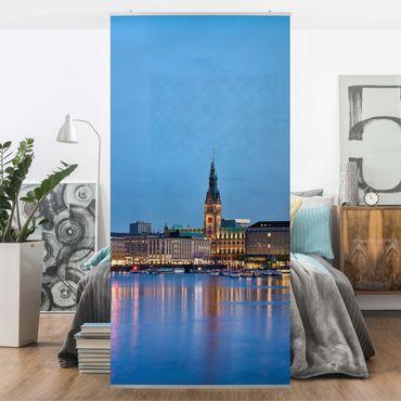 Raumteiler - Hamburg Skyline 250x120cm