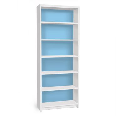 Möbelfolie für IKEA Billy Regal - Klebefolie Colour Light Blue