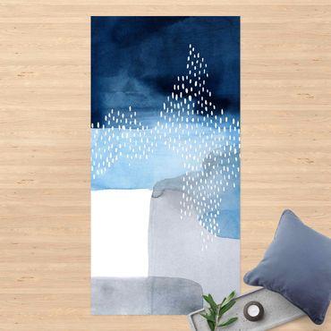 Vinyl-Teppich - Abstrakter Wasserfall - Hochformat 1:2