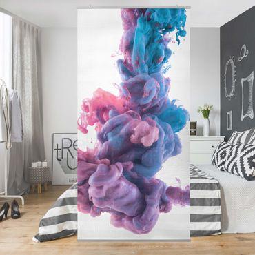 Raumteiler - Abstrakte flüssige Farbe 250x120cm