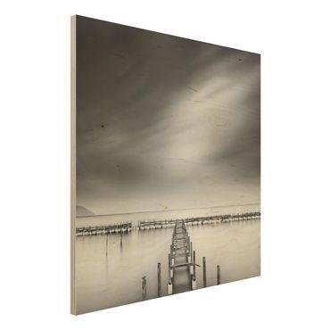 Holzbild - Der alte Pier - Quadrat 1:1