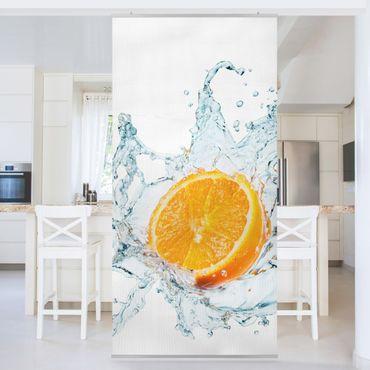 Raumteiler - Frische Orange 250x120cm