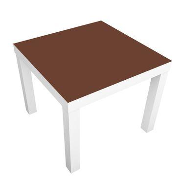 Möbelfolie für IKEA Lack - Klebefolie Colour Chocolate