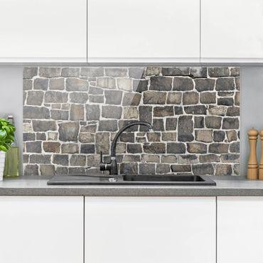 Spritzschutz Glas - Natursteinwand - Querformat - 2:1