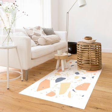 Vinyl-Teppich - Detailliertes Terrazzo Muster Siena mit Rahmen - Querformat 2:1