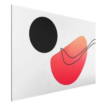 Aluminium Print - Abstrakte Formen - Schwarze Sonne - Querformat 2:3