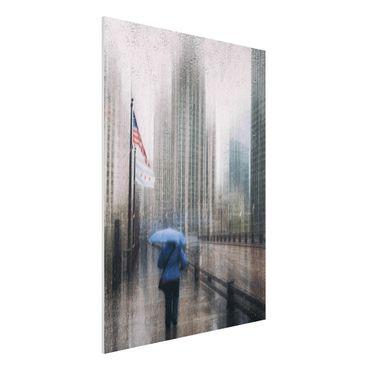 Forex Fine Art Print - Verregnetes Chicago - Hochformat 4:3