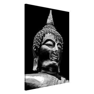 Magnettafel - Buddha Statue Gesicht - Memoboard Hochformat 3:2