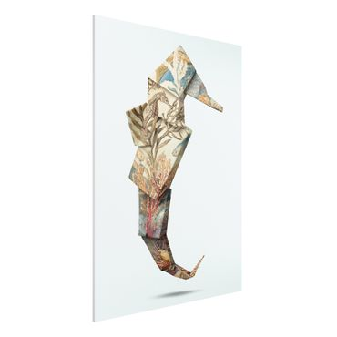 Forex Fine Art Print - Jonas Loose - Origami Seepferdchen - Hochformat 4:3