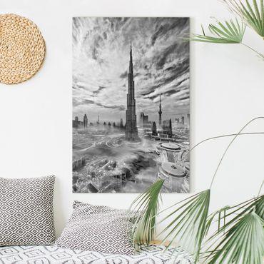 Leinwandbild - Dubai Super Skyline - Hochformat 3:2