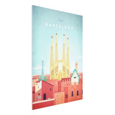 Forex Fine Art Print - Reiseposter - Barcelona - Hochformat 4:3