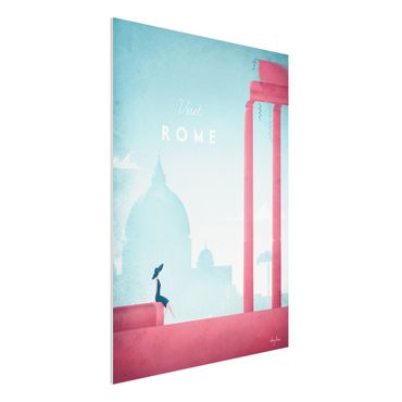 Forex Fine Art Print - Reiseposter - Rom - Hochformat 4:3