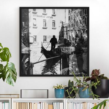 Bild mit Rahmen - Venice Reflections - Quadrat 1:1