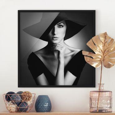 Bild mit Rahmen - Like Audrey - Quadrat 1:1