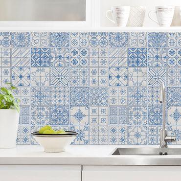 Küchenrückwand - Fliesenmuster Coimbra blau
