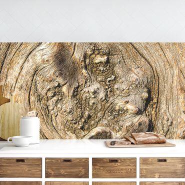 Küchenrückwand - Alte Holzstruktur