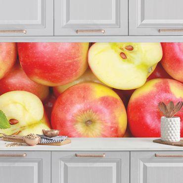 Küchenrückwand - Saftige Äpfel
