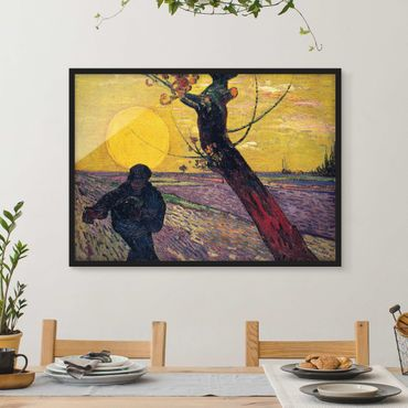 Bild mit Rahmen - Vincent van Gogh - Sämann - Querformat 3:4