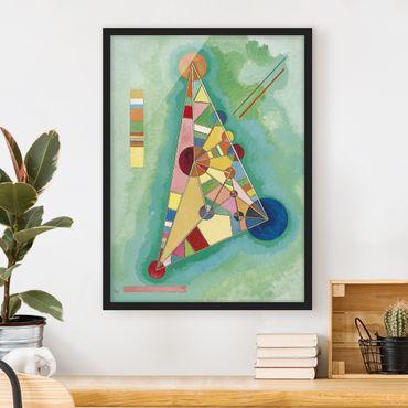 Bild mit Rahmen - Wassily Kandinsky - Dreieck - Hochformat 3:4