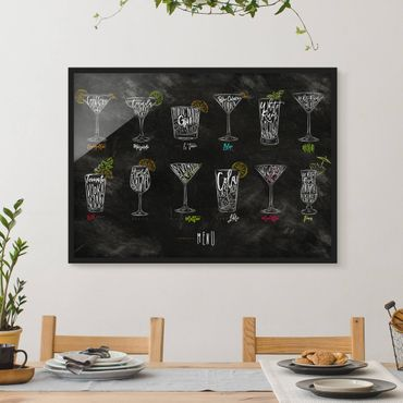 Bild mit Rahmen - Cocktail Menu - Querformat 3:4