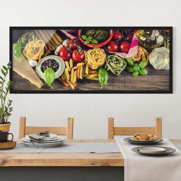 Bild mit Rahmen - Pasta - Panorama Querformat