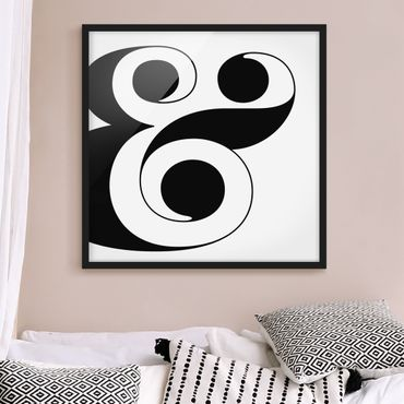 Bild mit Rahmen - Antiqua Letter & - Quadrat 1:1