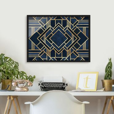Bild mit Rahmen - Art Deco Gold - Querformat 3:4