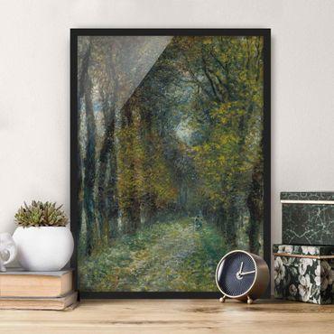 Bild mit Rahmen - Auguste Renoir - Die Allee - Hochformat 3:4