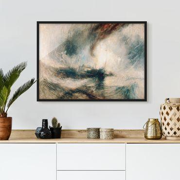 Bild mit Rahmen - William Turner - Schneesturm über Meer - Querformat 3:4
