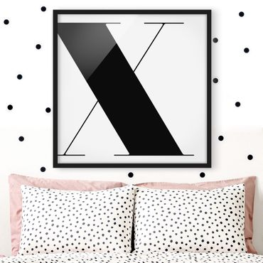 Bild mit Rahmen - Antiqua Letter X - Quadrat 1:1