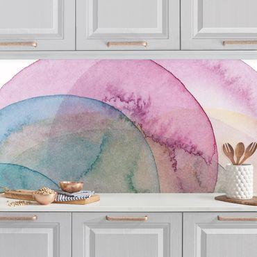 Küchenrückwand - Urknall - rosa