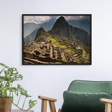 Bild mit Rahmen - Machu Picchu - Querformat 3:4