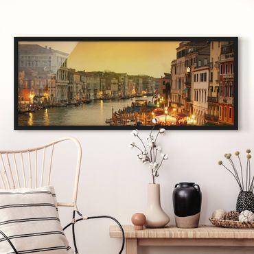 Bild mit Rahmen - Großer Kanal von Venedig - Panorama Querformat