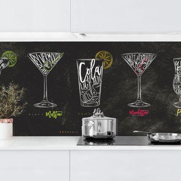 Küchenrückwand - Cocktail Menu