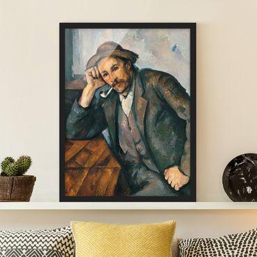 Bild mit Rahmen - Paul Cézanne - Der Raucher - Hochformat 3:4