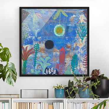 Bild mit Rahmen - Paul Klee - Versunkene Landschaft - Quadrat 1:1