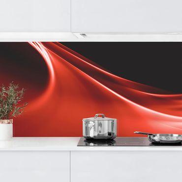 Küchenrückwand - Red Wave