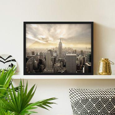 Bild mit Rahmen - Manhattan Dawn - Querformat 3:4