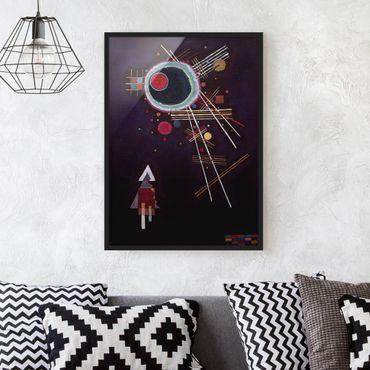 Bild mit Rahmen - Wassily Kandinsky - Strahlenlinien - Hochformat 3:4