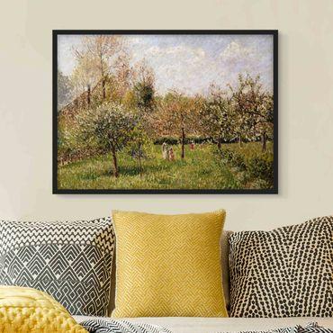 Bild mit Rahmen - Camille Pissarro - Frühling in Eragny - Querformat 3:4