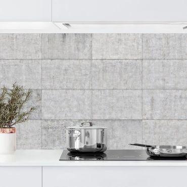 Küchenrückwand - Beton Ziegeloptik grau