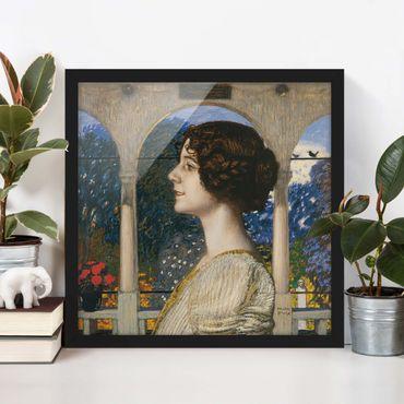 Bild mit Rahmen - Franz von Stuck - Weibliches Portrait - Quadrat 1:1
