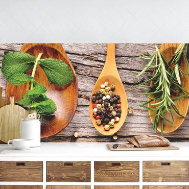 Küchenrückwand - Kräuter und Gewürze