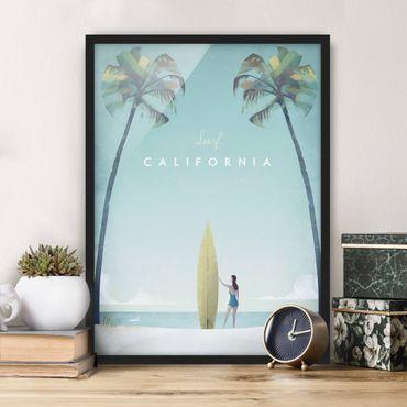 Bild mit Rahmen - Reiseposter - California - Hochformat 4:3